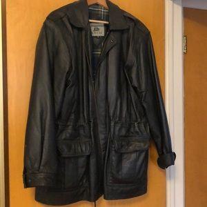 Men's Large Leather Jacket Burk's Bay